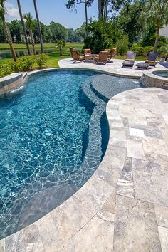 What is Pool Coping? Backyard Pool Landscaping, Backyard Pool Designs, Swimming Pools Backyard, Swimming Pool Designs, Gunite Swimming Pool, Pool Coping, Jacuzzi, Living Pool, Paving Design
