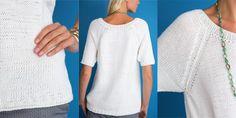 Белый пуловер спицами Vogue Knitting Spring Summer 2017