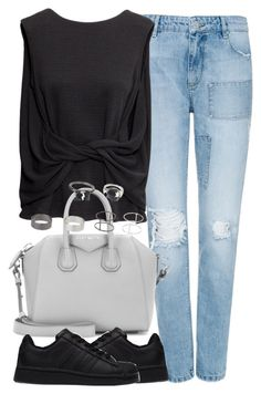 """Untitled #3743"" by london-wanderlust ❤ liked on Polyvore featuring Zoe Karssen, H&M, Givenchy, adidas and Topshop"