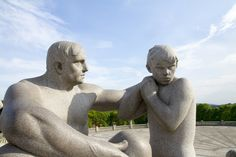 Frogner Park, Oslo, Norway — by Travel with all senses. In Frognerparken, the artist Gustav Vigeland has created the worlds largest sculpture park.
