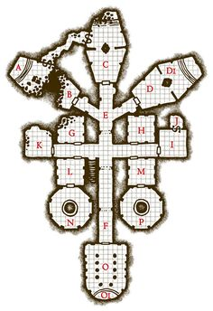 Fantastic map by Temphis over at Deviantart. Underground temple.