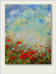 Hey, I found this really awesome Etsy listing at https://www.etsy.com/listing/96118100/poppy-field-original-oil-painting-made