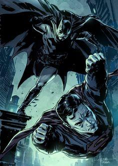 #Superman #And #Batman #Fan #Art. (Batman Superman colored) By: Mbreitweiser. (THE * 5 * STÅR * ÅWARD * OF: * AW YEAH, IT'S MAJOR ÅWESOMENESS!!!™)[THANK U 4 PINNING!!<·><]<©>ÅÅÅ+(OB4E)
