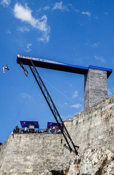 Dropping in: Blake Aldridge drops in on the opening round of the Red Bull Cliff Diving World Series in Havana. http://win.gs/1gObnRU Image: Romina Amato #cliffdiving