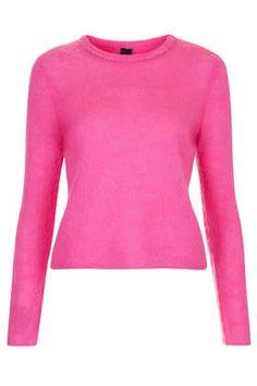 Womens Fluro Fluffy Jumper by Boutique - Pink, Pink - £50 on Vein - getvein.com