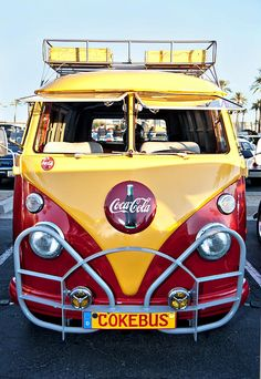 "Coca Cola Contest, 1st place.  ""VW Coke Bus"" by artist Diana Gunning"