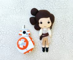 Perfect for any Star Wars: The Force Awakens fan with your choice of Rey or BB-8! Can be used as a small toy doll, an accent to your room/office or as a Christmas ornament. Also, great as gifts to a friend or loved one.  This listing is for ONE plushie toy or ornament measuring approximately (measurement does not include ornament string):  Rey ~ 7 tall BB-8 ~ 4.5 tall  These plushies are made of felt and delicately filled with Poly-fil stuffing. Each item is designed by me and 100%…