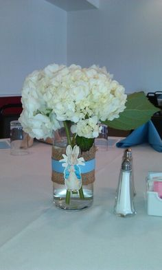 What do you think of this for Centerpieces? -AD Peter rabbit hydrangea centerpiece for baby shower