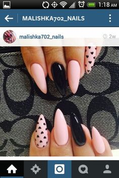 Best Gel Nail Art Designs For Long Best Gel Nail Art Designs For Long Nails 2018 Gel nails ar a lot of best nails since they need very little odds of obtaining raised and facilitate in reinforcing the real nails if utilised as a base c Gel Nails, Acrylic Nails, Pointy Nails, Nail Nail, Pink Stiletto Nails, Gel Nail Art Designs, Accent Nail Designs, Heart Nail Designs, Heart Nails