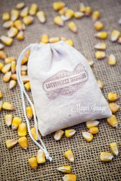 Corn | Ceremony Exits | Throwing Corn | Burlap Bag Favor | Wedding | Mager Image Photography | Cute | Beautiful | Central Illinois Wedding Photographer | Wedding Photographer