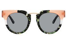 Kaleos Treborn statement sunglasses in green and coral