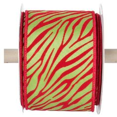 "Animal Print Ribbon  Lime Green, Red 2.5"" x 10 yards Wire edge Animal print ribbon  **ARRIVING JULY 20112** Wreath Supplies, Printed Ribbon, Christmas Ribbon, Trendy Tree, Flocking, Deco Mesh, Burlap, Lime, Christmas Decorations"