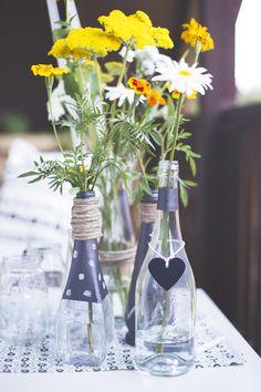 Flaschen_Blumenvase