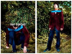 Raf Simons Fall/Winter 2013 Campaign: Luca Lemaire photographed by Willy Vanderperre and styled by Olivier Rizzo for Raf Simons Fall/Winter 2013-14 ad campaign.