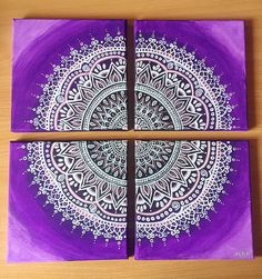 Purple Shades Mandala - Alba A