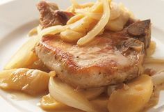 Skillet Pork Chops with Apples Recipe. Mark Bittman says this method, which is essentially a quick braise, is perfect for pork chops: The browning helps the meat taste rich, while the moisture keeps it tender and juicy.