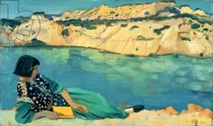 The Blue Pool 1911 John Augustus Edwin edwardianart.com