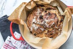 No Knead Bread: schnelles Brot ohne Kneten - Rezept-Varianten No Knead Bread, Pancakes, Breakfast, Food, Quick Bread, Oven, Food Food, Simple, Recipies