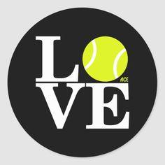 Shop Ace Tennis LOVE Classic Round Sticker created by acetennisgear. Tennis Camp, Beach Tennis, Tennis Gear, Tennis Clubs, Tennis Wallpaper, Tennis Pictures, Vintage Pop Art, Club Design, Art Icon