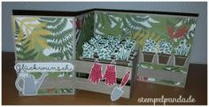 Stampin up stempelpanda gift from the garden pop up card