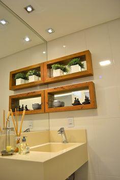 Niches for bathrooms - Ideas and photos - Home Fashion Trend Bathroom Niche, Bathroom Red, Bathroom Toilets, Modern Bathroom, Small Bathroom, Bathroom Medicine Cabinet, Gray And White Bathroom, Dark Bathrooms, Casa Clean