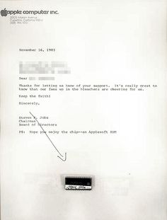 Steve Jobs Mailed Autographed Apple Chips to Fans
