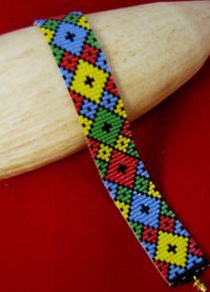 Diamonds Beaded Bracelet Pattern at Sova-Enterprises.com