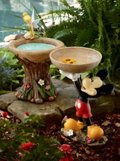 Mickey Tinkerbell Birdbath