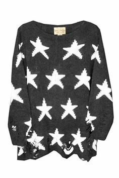 because it's what Mindy Kaling lounges in at home on The Mindy Project...  Wildfox Couture Seeing Stars Lennon Winter Sweater in Dirty Black