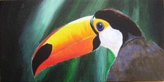 Toucan Acrylic Painting by RachaelCao on Etsy