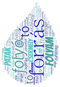 vízcsepp word cloud art created by Adrienn. Word Cloud Art, Word Art, Word Collage, Water Day, Green School, Water Pollution, Water Cycle, Earth Day, Literatura