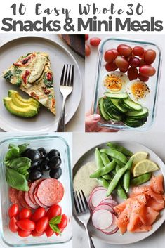 I'm so excited to be sharing TEN easy and satisfying Whole 30 snacks and mini meal recipes and ideas with you! These are great pre or post workout meals, or to use as a mini meal for nursing or pregnant women, or if you find you're hungry between meals. Best Post Workout Food, Post Workout Snacks, Workout Meals, Clean Eating Snacks, Healthy Snacks, Healthy Eating, Healthy Recipes, Keto Snacks, Whole 30 Snacks