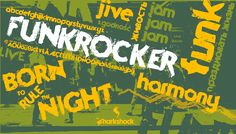 Funkrocker is an ultra hip display font for a variety of uses. Free demo is available for personal use only.  #typography #fonts #sharkshock #band #metal #grunge #Cyrillic #Greek #Russian  #русский #кириллица #шрифт