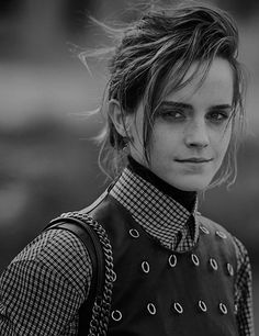 "ewatsondaily: ""Emma Watson photographed by Peter Lindbergh for Interview Magazine (2017) """