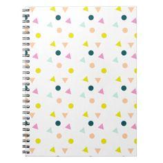 Confetti Notebook - patterns pattern special unique design gift idea diy