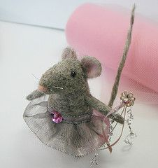 Angelina Ballerina is seriously cute- very talented needle felting artist