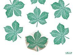 stamp   hand-carved   chestnut leaf