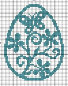 Easter egg free cross stitch chart