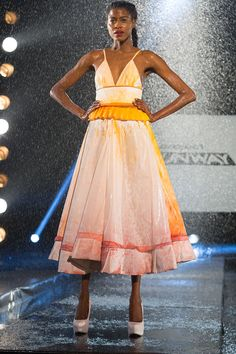"""Sean Kelly - Project Runway Avant Garde challenge on the """"rainway"""" - this was a kinda cool effect."""