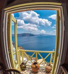Enjoy the breathtaking view from your room ,at Santorini island (Σαντορίνη) ❤️.