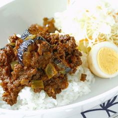 Japanese Ground Beef & Eggplant Dry Curry なすと挽肉のドライカレー