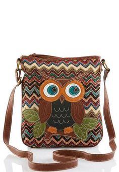 Cato Fashions Chevron Owl Crossbody #CatoFashions