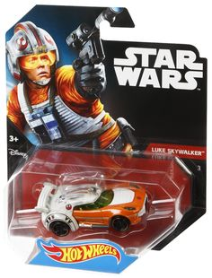 Two of boys? favorite brands?Hot Wheels and Star Wars?have joined forces! Hot Wheels has reimagined some of the most iconic characters from Star Wars as 1:64-scale cars. The Hot Wheels Star Wars Luke