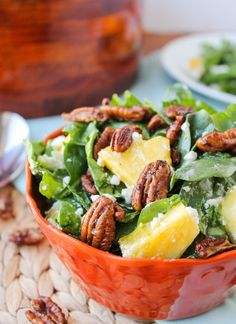 Pineapple Spinach Salad - The Food Charlatan