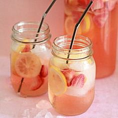 White Strawberry Lemon Sangria - Kitchen Treaty
