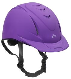 Ovation Girls' Schooler Deluxe Riding Helmet Purple M/L US Easy-Adjust Dial For Snug Fit Extra-strong adjustment teeth provide for added helmet life High flow vents keep you cool Equestrian Boots, Equestrian Outfits, Equestrian Style, Equestrian Fashion, Horse Gear, My Horse, Horse Tack, Horse Riding Helmets, Riding Hats