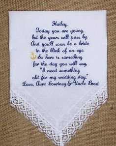 Beautiful Embroidered Gift for Flower Girl by InspiredStitches, $25.00