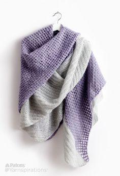 Patons Crochet Lace Blanket Scarf, Crochet Pattern | Yarnspirations