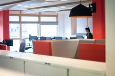 Amarelle Office Interiors // The Planning Inspectorate Bristol Office Fit Out, Cool Office, Workplace Design, Office Interiors, Modern Lighting, Large Black, Bristol, Offices, Collaboration