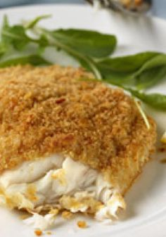 Crispy Oven-Fried Fish — Beautifully golden on the outside, flaky and tender on the inside, this flavorful fish recipe is virtually foolproof to make.